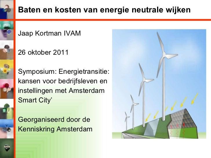Jaap kortman, Energietransitie, 26-10-2011