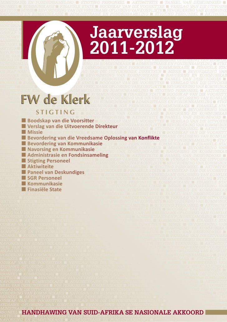 Jaarverslag 2011 - 2012