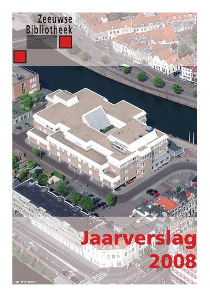 Zeeuwse Bibliotheek Jaarverslag 2008