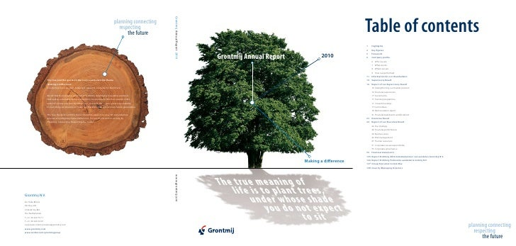 Grontmij Annual Report           2010                         Making a difference