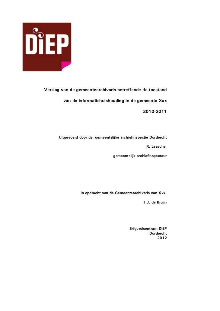 Jaarverslag gemeente xxx 2010 2011