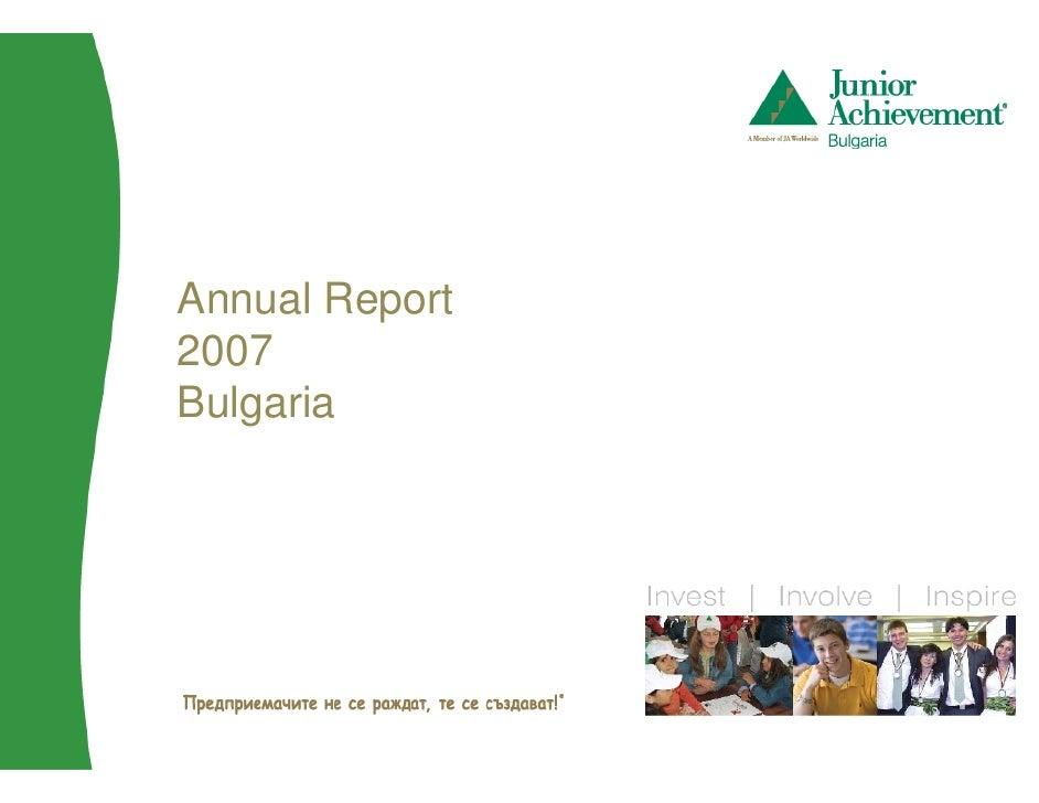JA Bulgaria Annual Report 2007