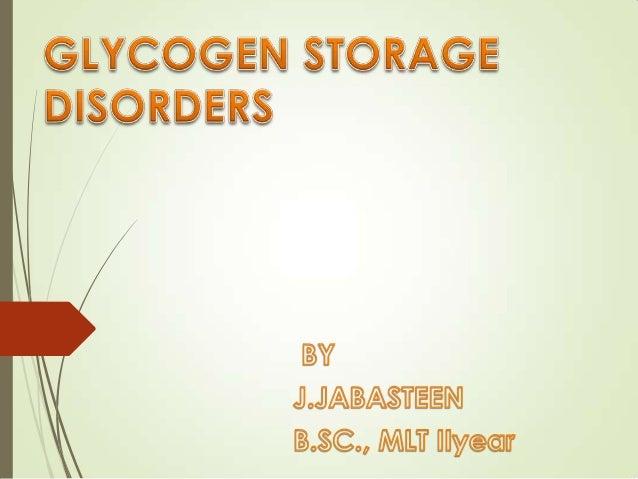 glycogen storage disorders