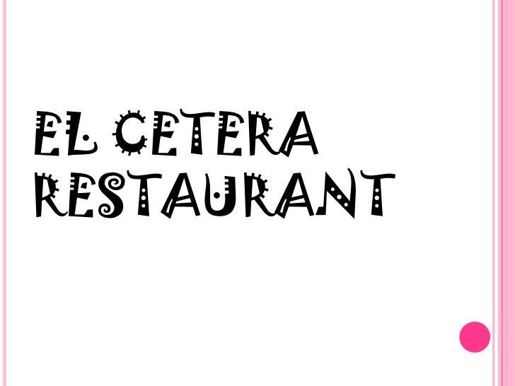 Jabian el cetera restaurant