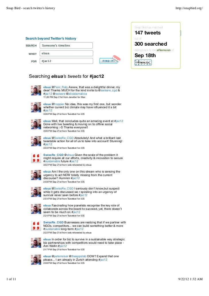 Snap Bird - search twitters history                                                                                       ...