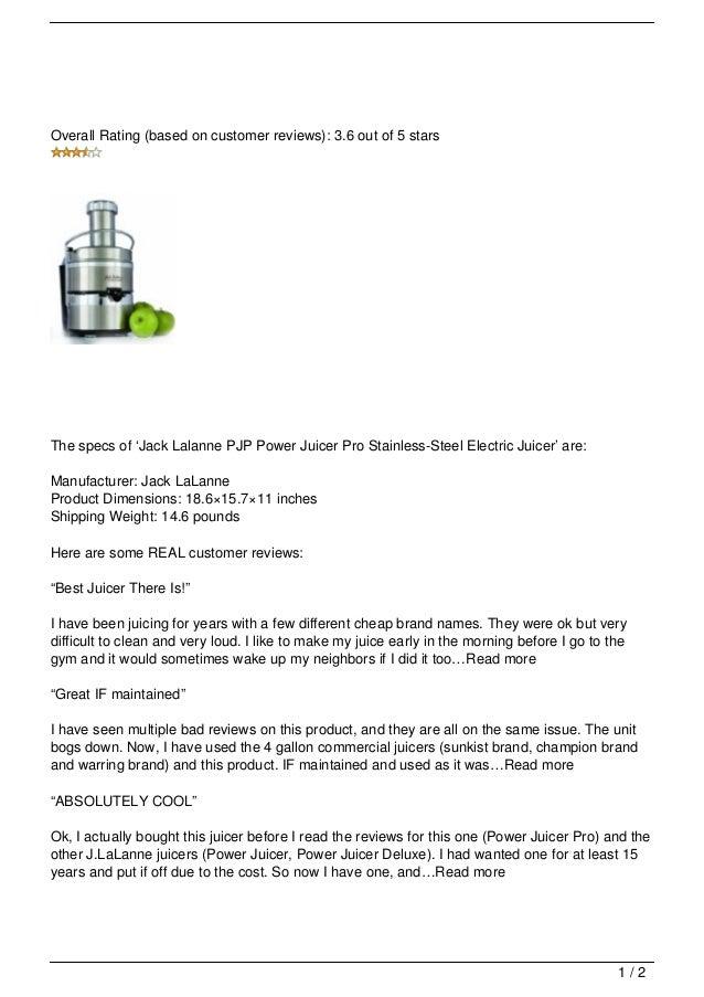 Review 400 juicer optimum