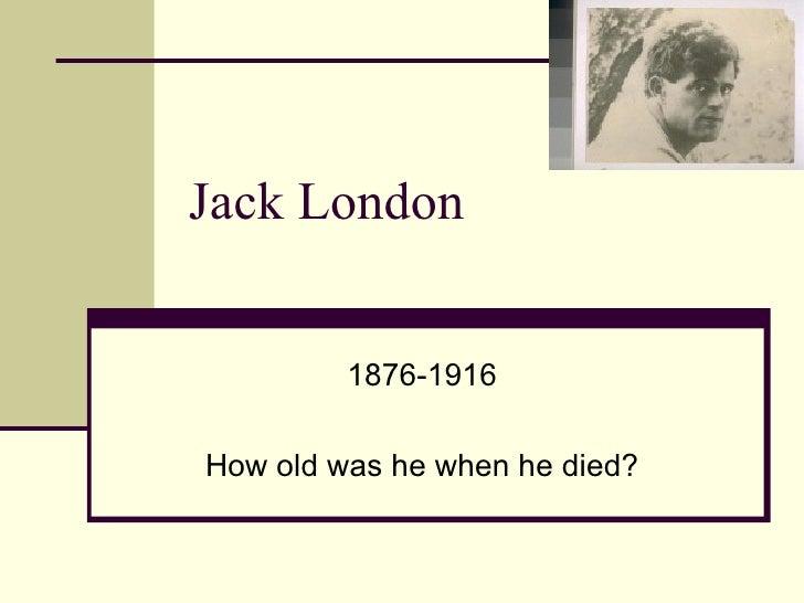 Jack London Background