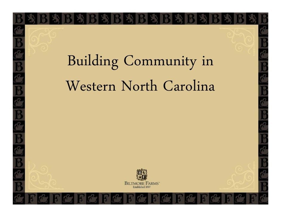 Building Community inWestern North Carolina