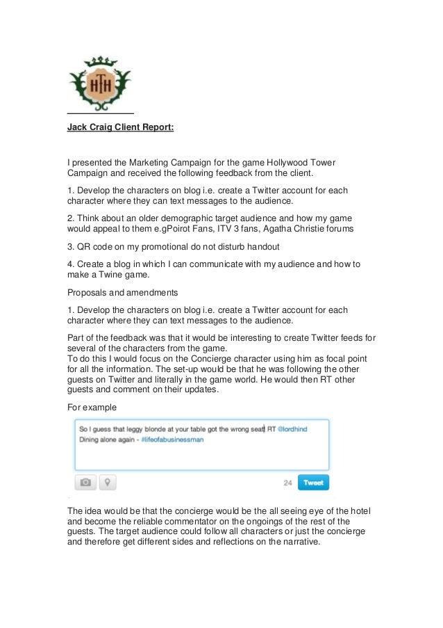 UNIT 04 AO5 Jack Craig Client Report