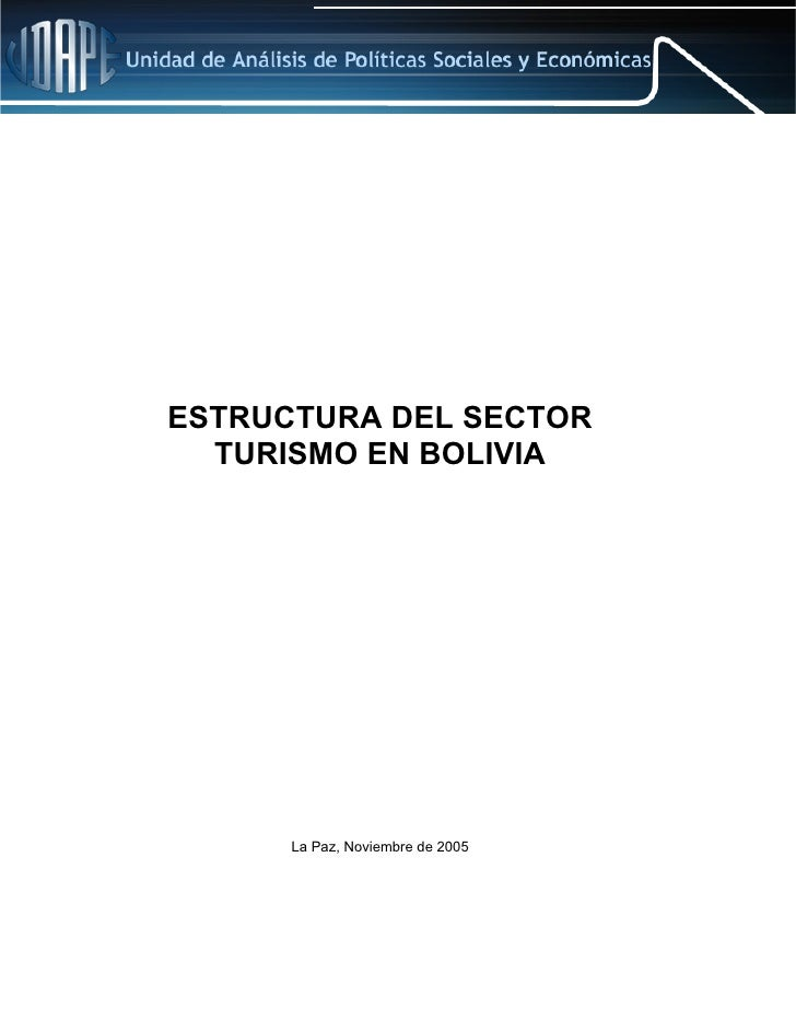 ESTRUCTURA DEL SECTOR   TURISMO EN BOLIVIA           La Paz, Noviembre de 2005