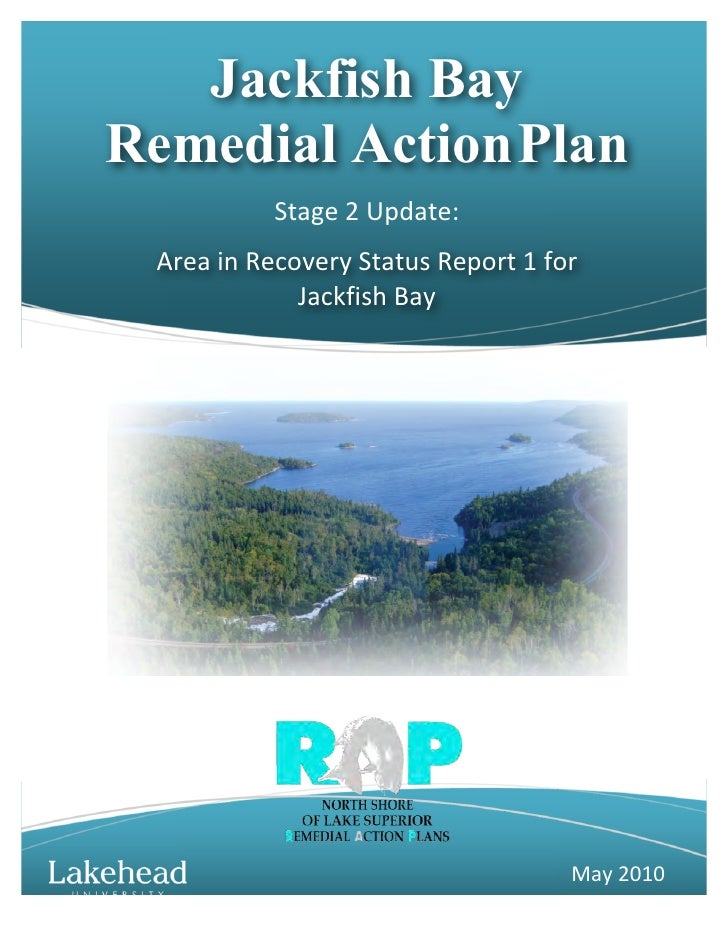 Jackfish Bay Remedial Action Plan                  Stage  2  Update:    Area  in  Recovery  Status  Report ...