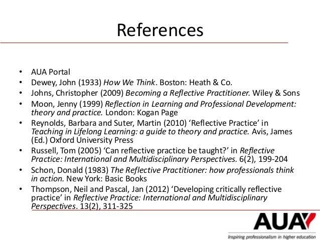 developing reflective practice essay
