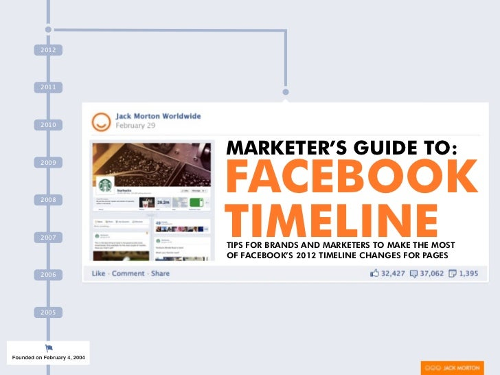 Marketer's Guide To Facebook Timeline: Tips for Brands and Marketers For The 2012 Changes To Pages