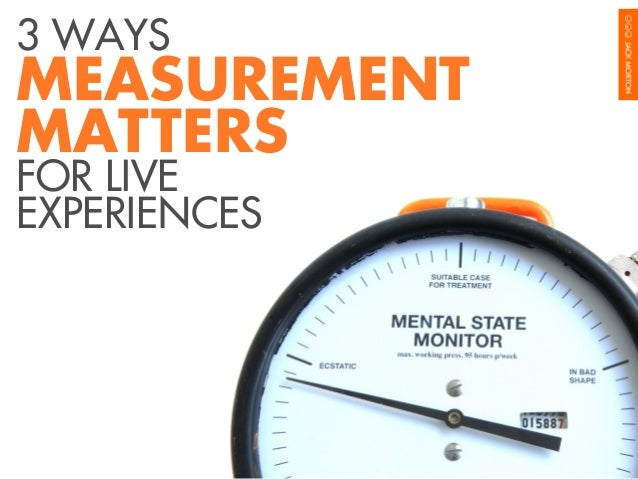 3 WAYS  MEASUREMENT MATTERS FOR LIVE EXPERIENCES