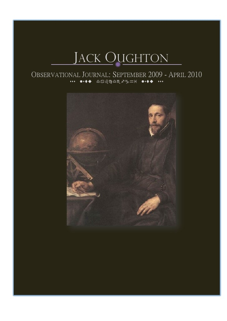 Jack Oughton - Observational Journal 09-10