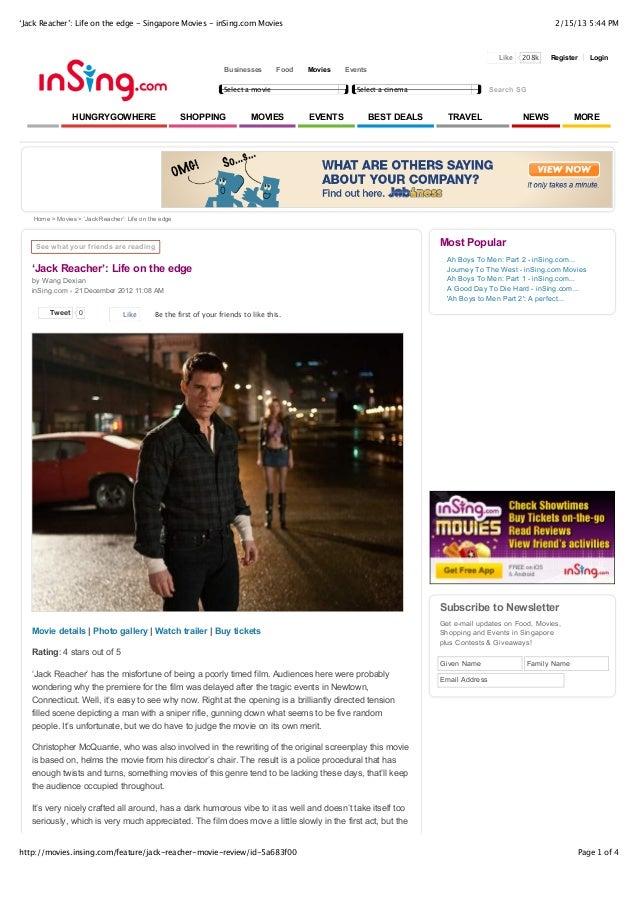 'Jack Reacher': Life on the edge - Singapore Movies - inSing.com Movies                                                   ...