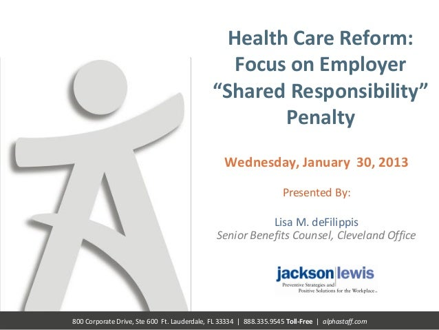 Healthcare Reform – The State of the Union