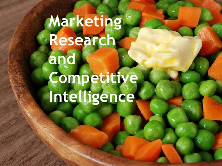Marketing Research and Competitive Intelligence