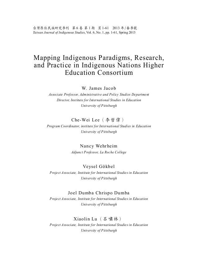 Mapping Indigenous Paradigms, Research, and Practice in the World Indigenous Nations Higher Education Consortium