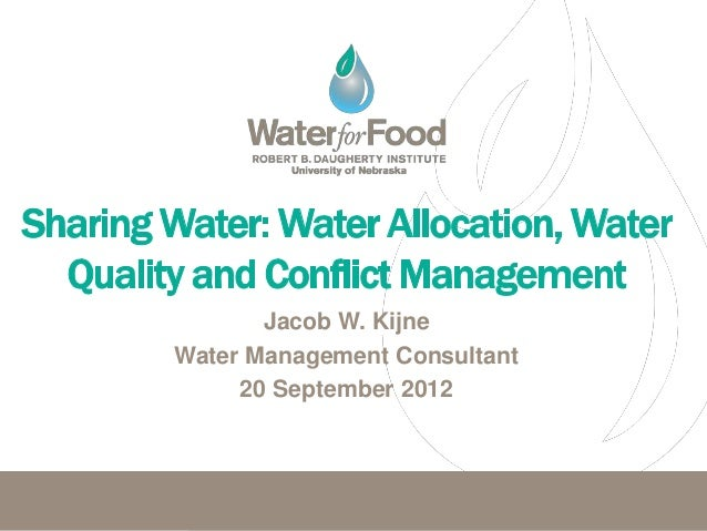 Jacob W. KijneWater Management Consultant     20 September 2012