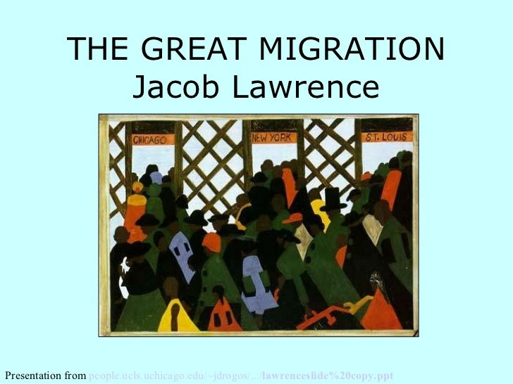 Jacob lawrence great migration