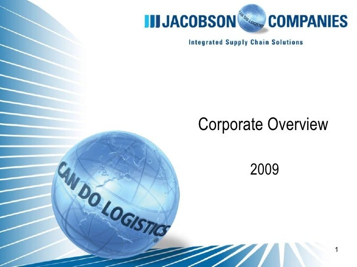 Jacobson Corporate Overview