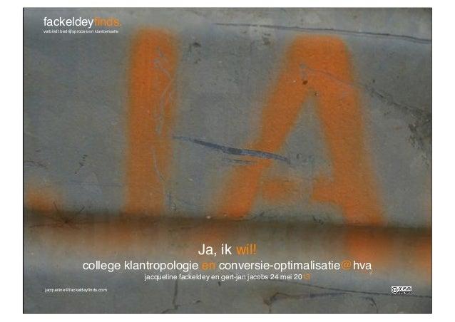 College klantropologie en conversieoptimalisatie voor de HVA_Jacqueline Fackeldey