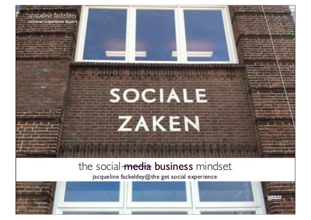 Lezing social media en social business mindset op The Get Social experience 2013_Jacqueline Fackeldey