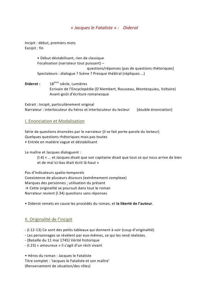 Introduction dissertation jacques le fataliste