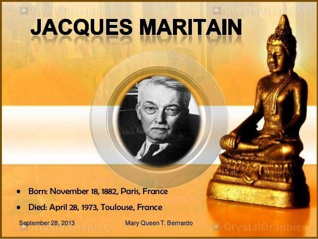 Jacques Maritain - Educational Philosophy