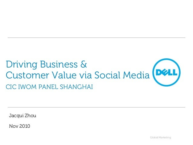 Global Marketing Driving Business & Customer Value via Social Media CIC IWOM PANEL SHANGHAI Jacqui Zhou Nov 2010