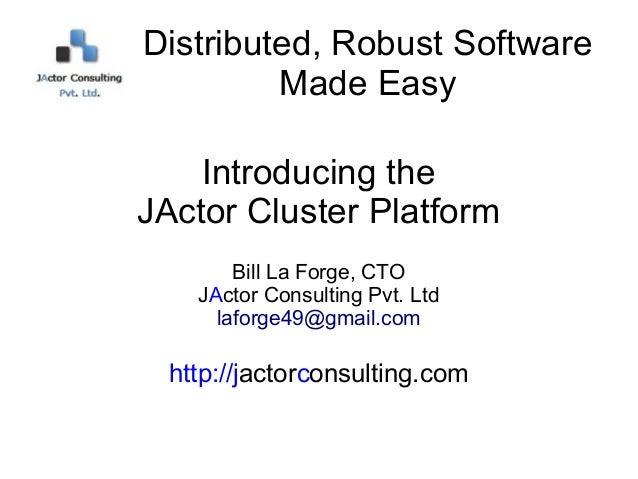 JActor Cluster Platform