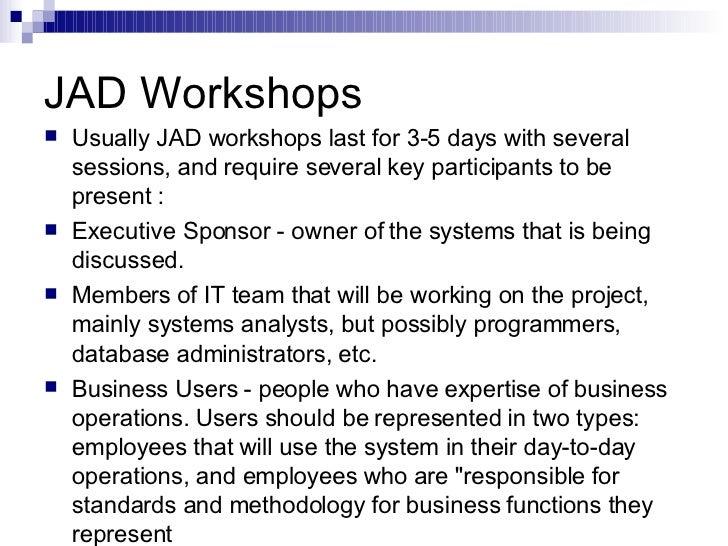 jad workshops
