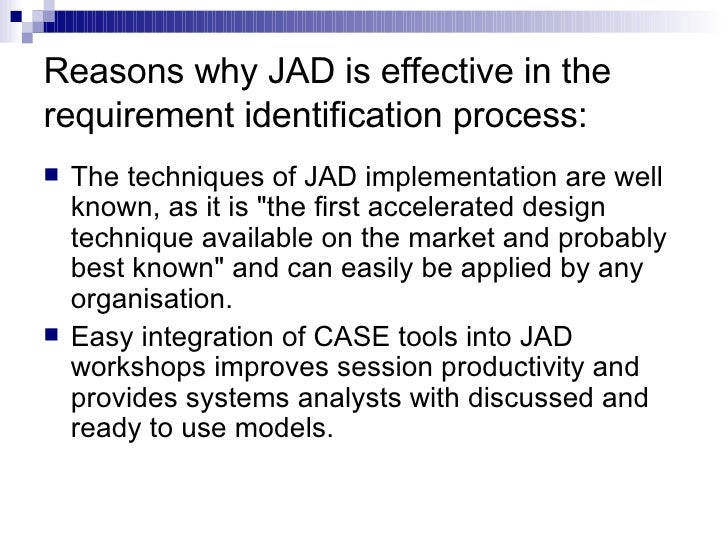 jad guidelines knowledge structures inc