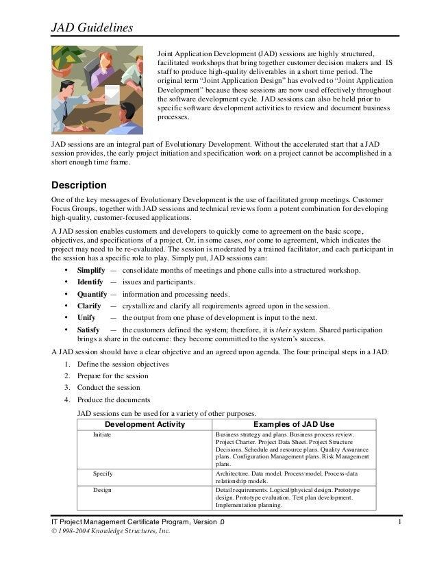 JAD Guidelines