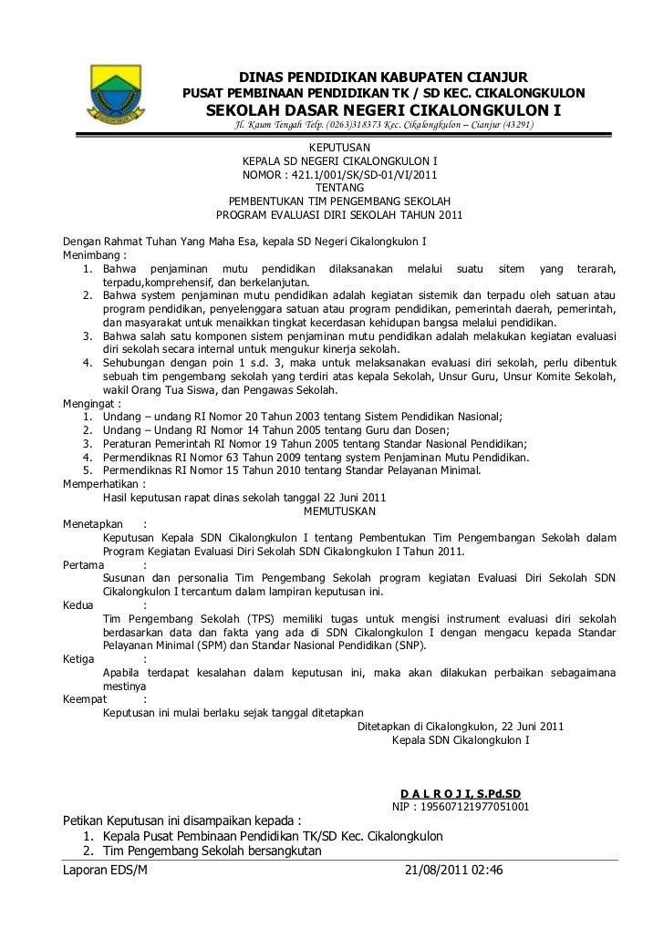laporan eds sdn cikalongkulon 1