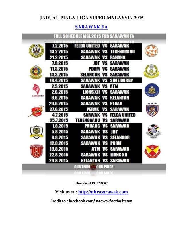 Jadual Piala Liga Super