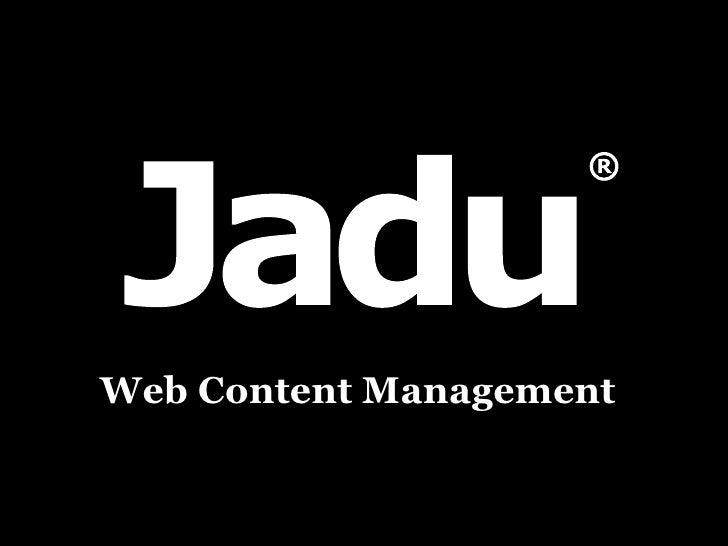 Jadu Social Media Talk - Twitter and Facebook in Government