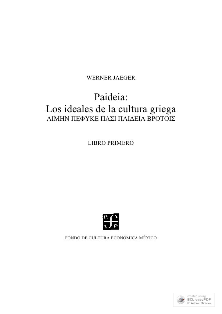 Jaeger paideia