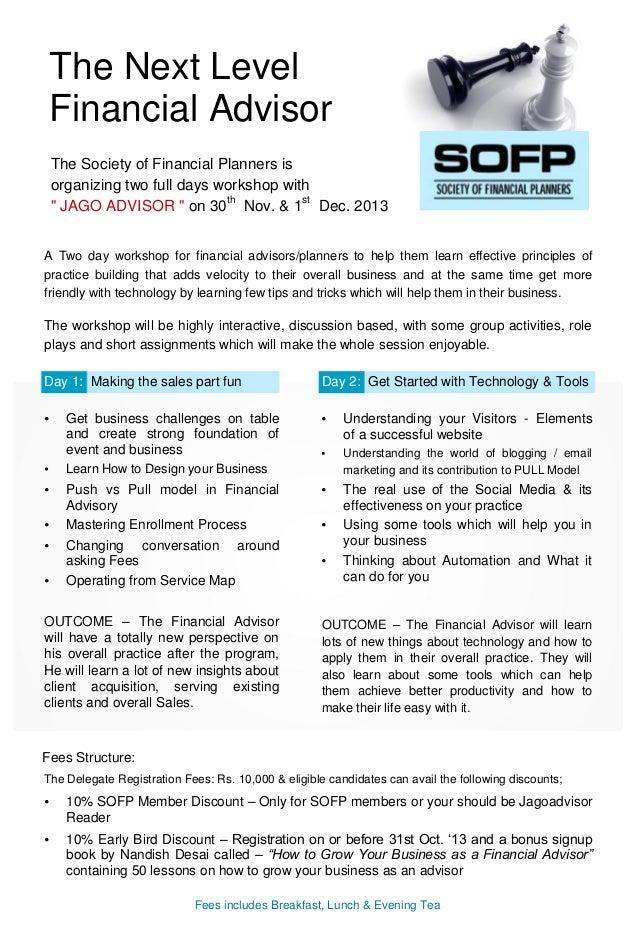 Jagoadvisor Advisor Workshop Brochure