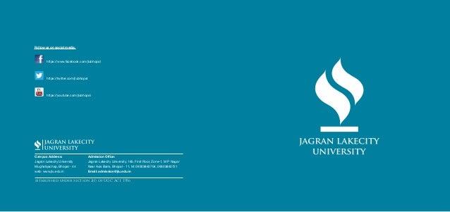 Jagran lakecity university brochure