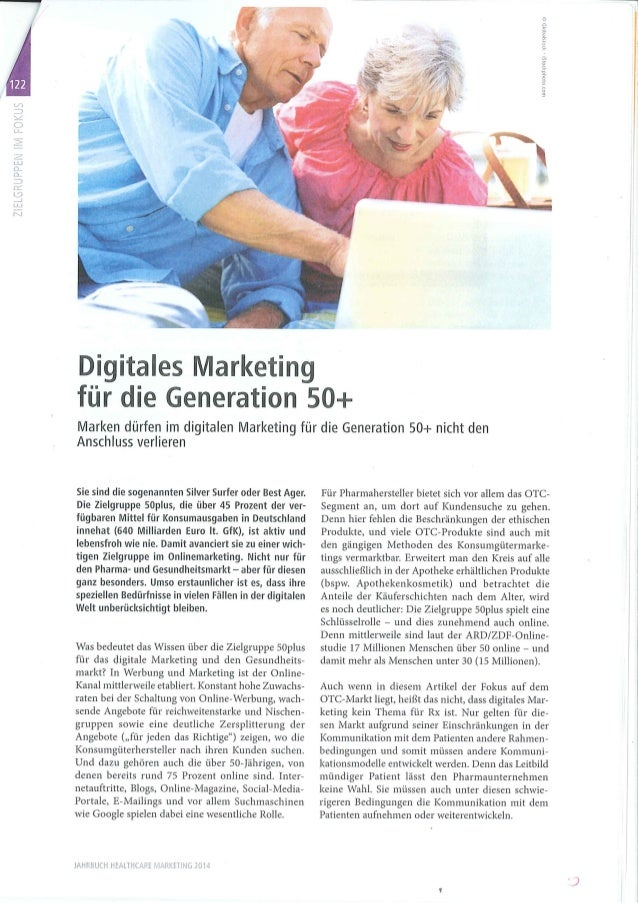 Studie: Digitales OTC Marketing für die Generation 50+