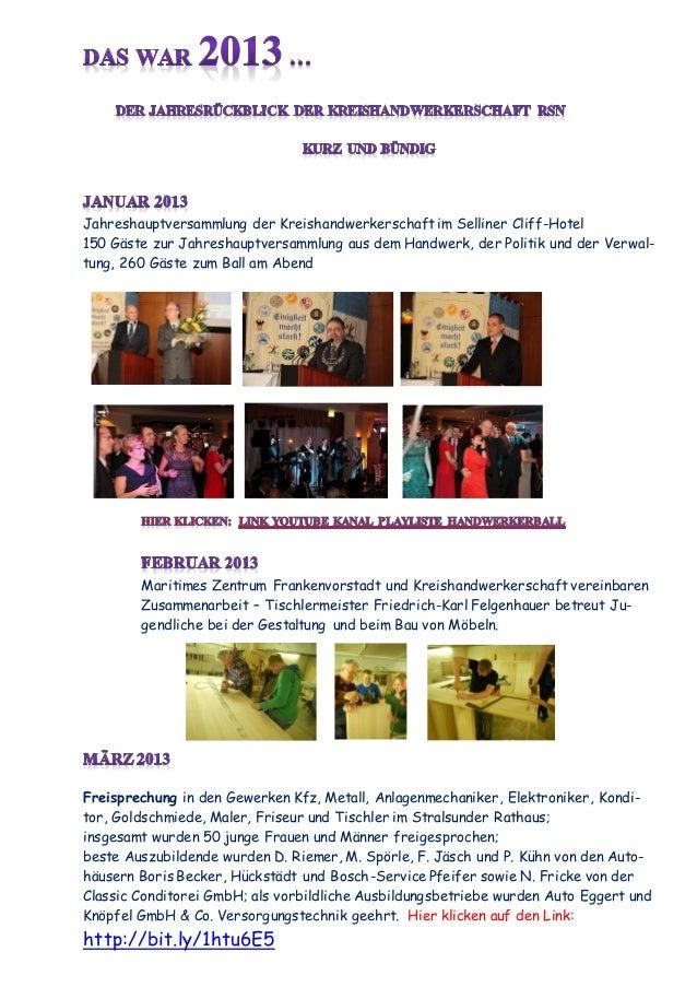 Jahresrückblick 2013 Handwerk RSN