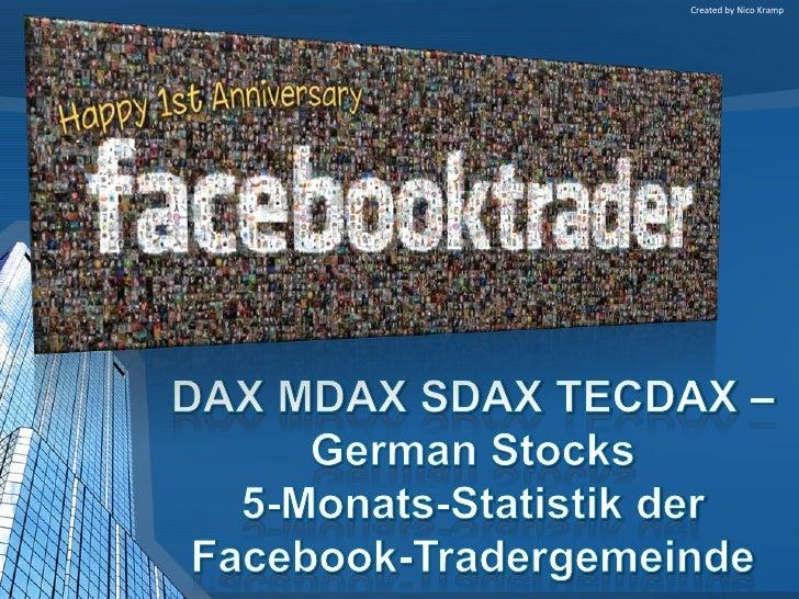 DAX MDAX SDAX TECDAX –German Stocks Statistik