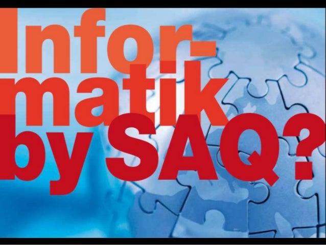 Jahresversammlung Informatik SAQ 2014
