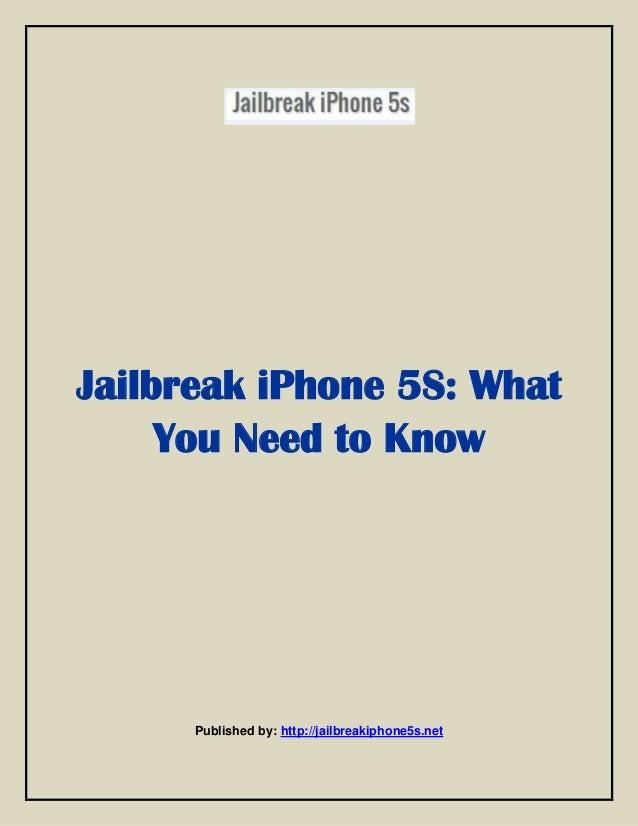 Jailbreak i phone 5s