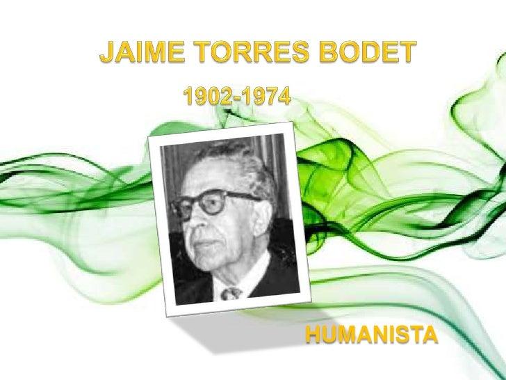 JAIME TORRES BODET<br />1902-1974<br />HUMANISTA<br />