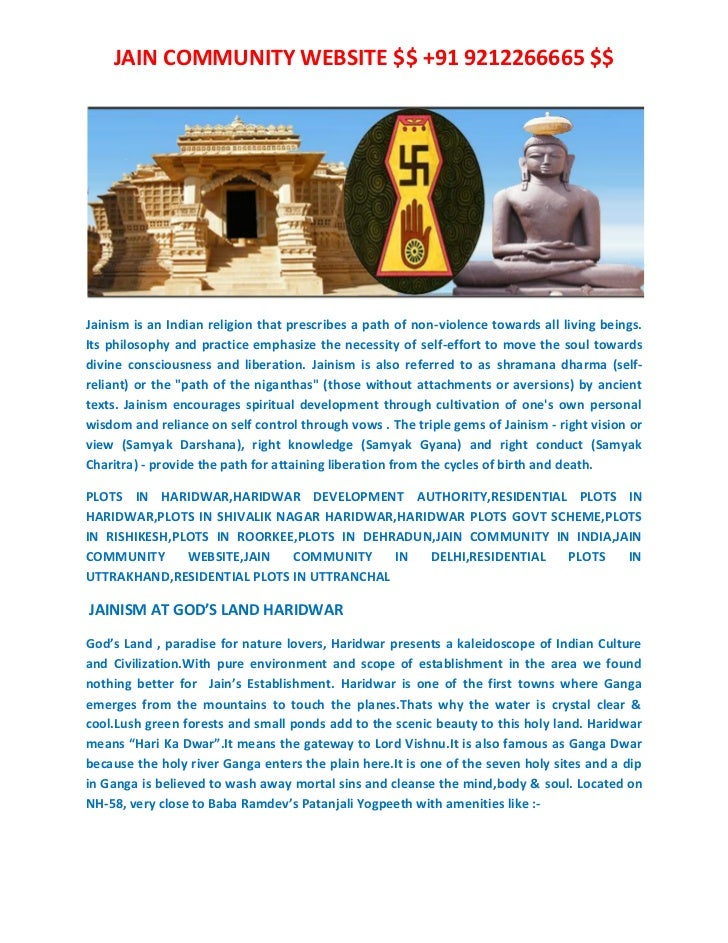 JAIN COMMUNITY WEBSITE $$ +91 9212266665 $$Jainism is an Indian religion that prescribes a path of non-violence towards al...
