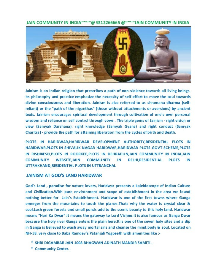 JAIN COMMUNITY IN INDIA~~~~@ 9212266665 @~~~~JAIN COMMUNITY IN INDIAJainism is an Indian religion that prescribes a path o...