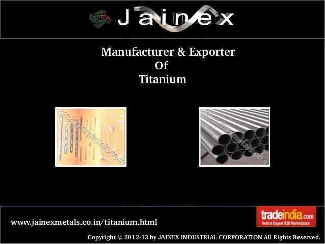Titanium Sheet Plate Exporter,Manufacturer,Mumbai